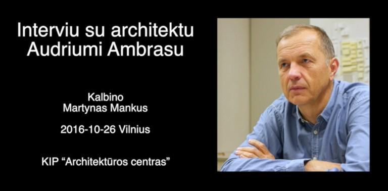 (Lietuvių) Virtualus architektūros muziejus pildomas ir interviu su žymiais architektais
